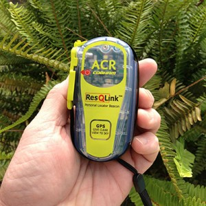 The ACR ResQLink+ Personal Locator Beacon fits in the palm of your hand